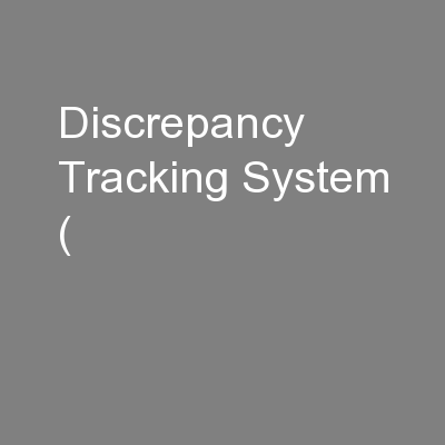 Discrepancy Tracking System (