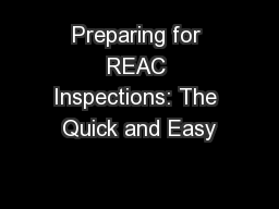 Preparing for REAC Inspections: The Quick and Easy