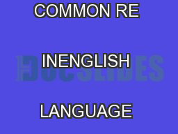 KEY LEARNINGTSE COMMON RE INENGLISH LANGUAGE ARTSKEY LEARNING ... PowerPoint PPT Presentation