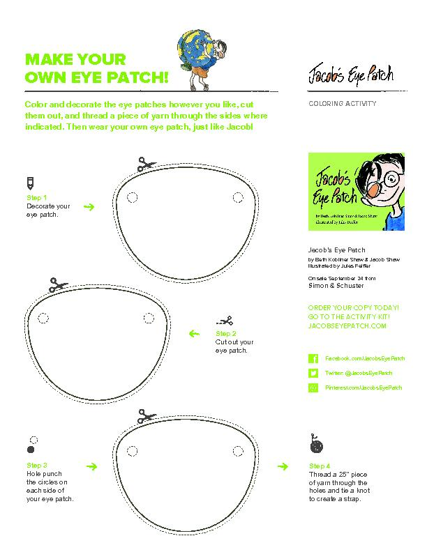 Color and decorate the eye patches however you like, cut them out, and
