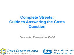 1 Complete Streets: PowerPoint PPT Presentation