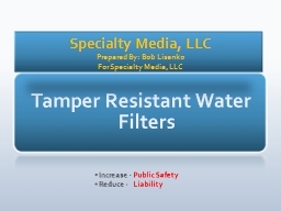 Tamper Resistant Water Filters PowerPoint PPT Presentation