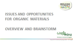 Issues and Opportunities for organic