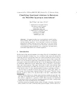 toappearinProc.CICLing-2003,CIC,IPN,MexicoCityc\rSpringer-Verlag1Class