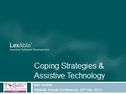 Coping Strategies & Assistive Technology