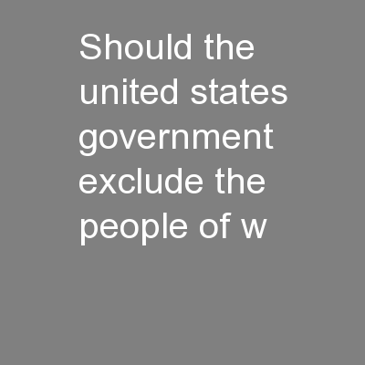 should the united states federal government What is the federal government doing to combat the opioid abuse an estimated 19 million people in the united states suffered from substance use disorders related to prescription opioid pain these examples show that state and federal policies can reduce the availability of.