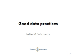 Good data practices