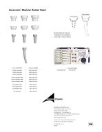 Ascension Modular Radial Head WW the shape  the size  the fit  Radiopaque prostheses allow for intraoperative verification of implant position and post operative assessment