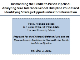 Dismantling the Cradle to Prison Pipeline: