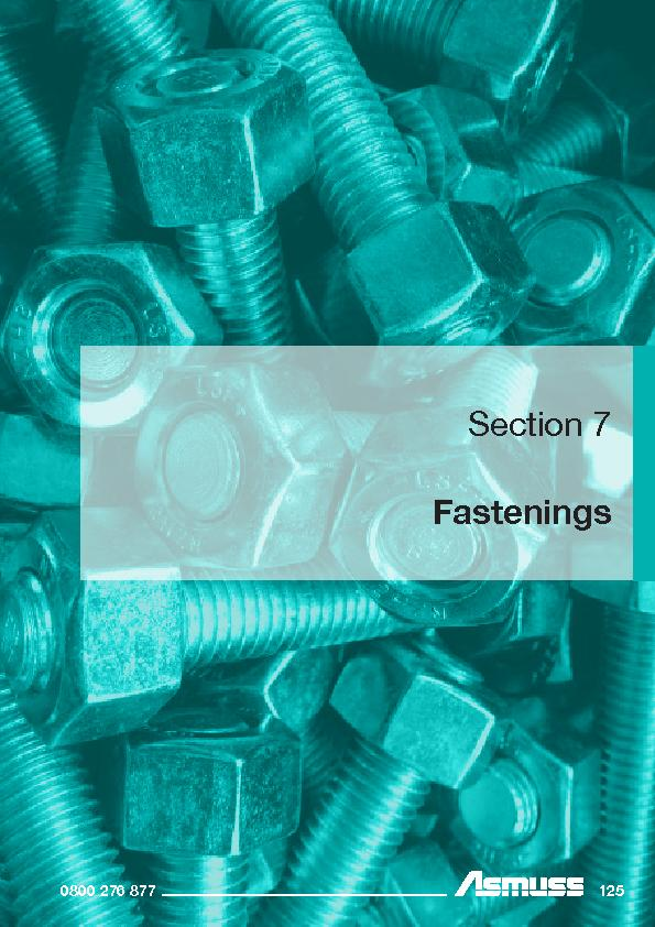 Section 7Fastenings