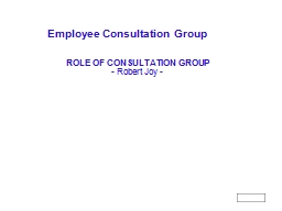Employee Consultation Group