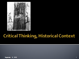 Critical Thinking, Historical Context