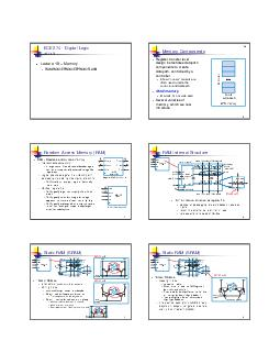 ECE   Digital Logic Lecture  Lecture   Memory RAMROMEPROMEEPROMFLASH Memory Components Registertransfer level design instantiates datapath components to create datapath controlled by a controller A f