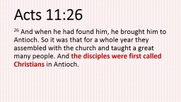 Acts 11:26