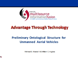 Preliminary Ontological Structure for Unmanned Aerial Vehic