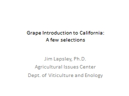 Grape Introduction to California: