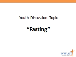 Youth Discussion Topic