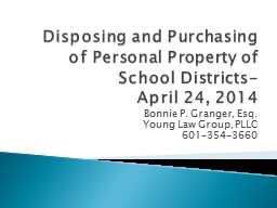 Disposing and Purchasing of Personal Property of School Dis