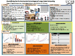 Quantifying the Environmental Advantages of Large-Scale Com PowerPoint PPT Presentation
