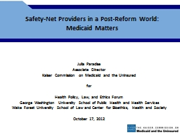 Safety-Net Providers in