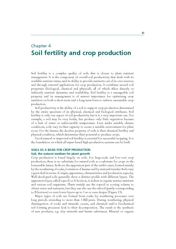 Plant nutrition for food security44
