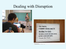Dealing with Disruption PowerPoint PPT Presentation