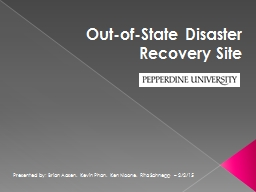 Out-of-State Disaster Recovery Site