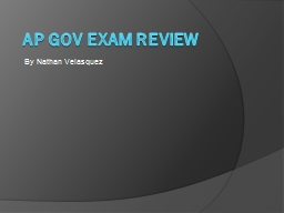 AP Gov Exam Review