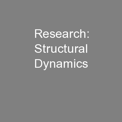 Research: Structural Dynamics