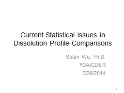 Current Statistical Issues in Dissolution Profile Compariso