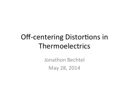 Off-centering Distortions in
