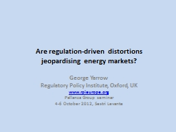 Are regulation-driven distortions jeopardising energy marke