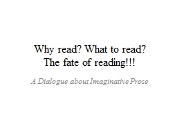 Why read? What to read?