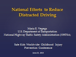 National Efforts to Reduce
