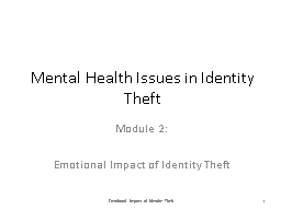 The Effects of Identity Theft on You