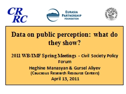 Data on public perception: what do they show? PowerPoint PPT Presentation