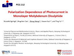 Polarization Dependence of Photocurrent in