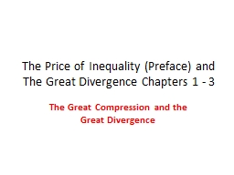 The Price of Inequality (Preface) and The Great Divergence
