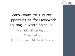 Zero-Commute Futures:  Opportunities for Live/Work Housing