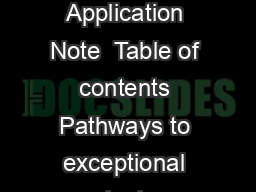 TestSystem Development Guide Introduction to TestSystem Design Application Note  Table of contents Pathways to exceptional test Testsystem considerations Planning your test system Accuracy Throughput