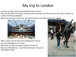 My  trip to London