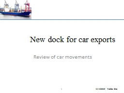New dock for car exports PowerPoint PPT Presentation