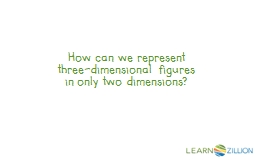 How can we represent three-dimensional