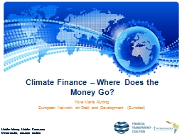 Climate Finance – Where Does the Money Go?