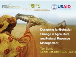 Designing for Behavior Change in Agriculture and Natural Re