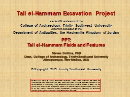 Tall el-Hammam Excavation Project
