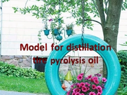 Model for distillation tire