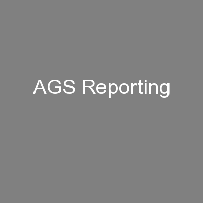 AGS Reporting