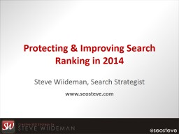 Protecting & Improving Search Ranking in 2015