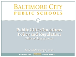 Public Gifts/Donations